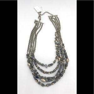 Coldwater creek blue beaded necklace #888